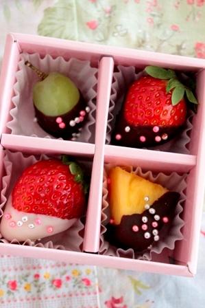 可愛いチョコフルーツ (9)