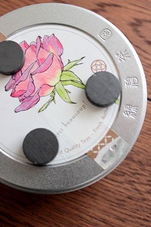セリア リメイクシート お茶缶リメイク (2)
