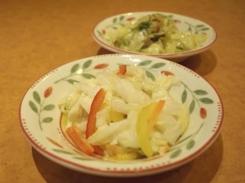 白菜のミックスピクルス&キャベツとアンチョビのソテー