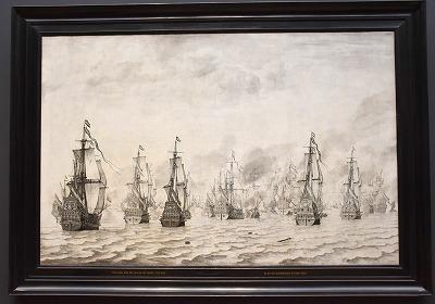 The Battle of Dunkirk Willem van de Velde 01