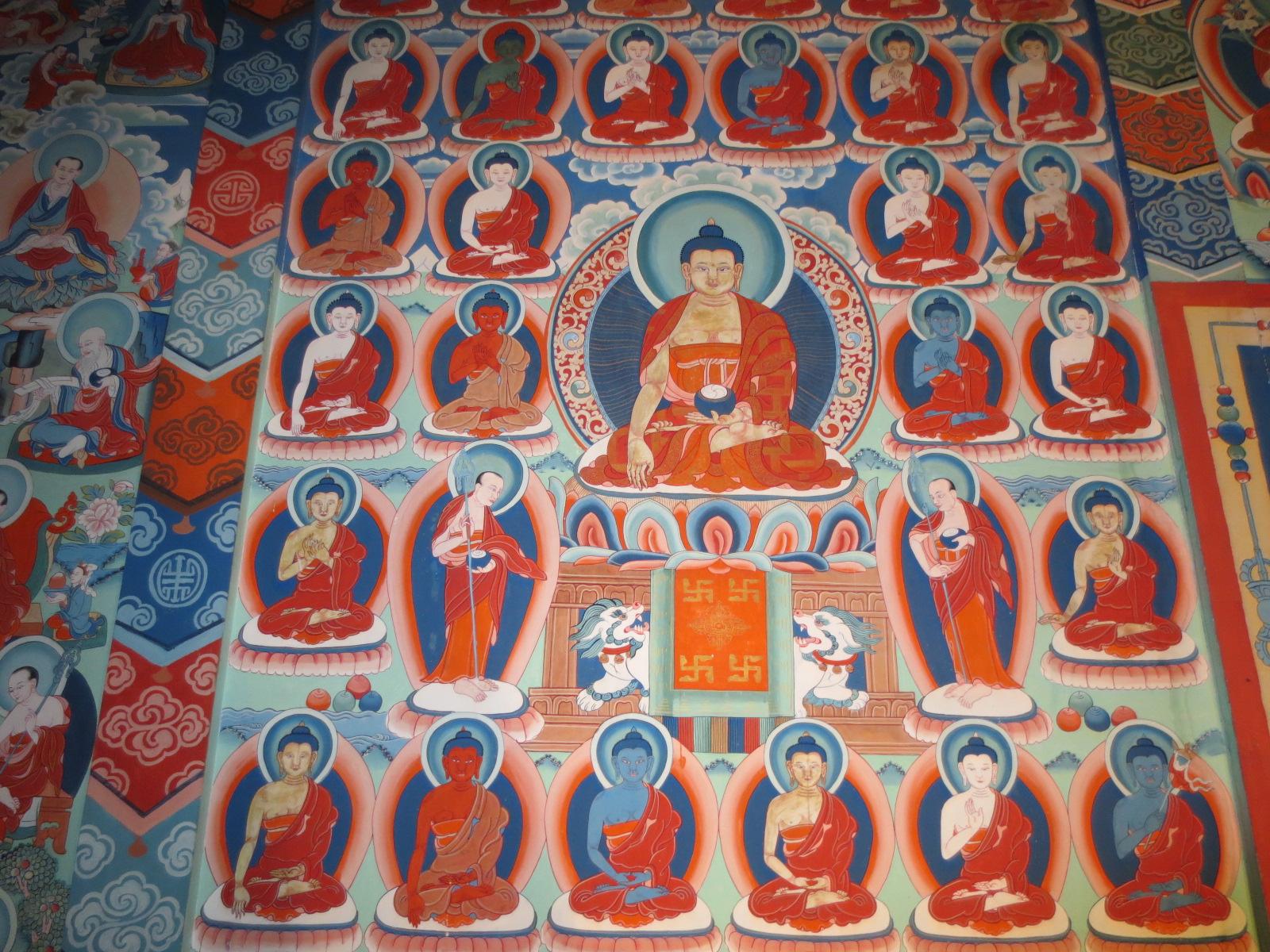 ネパール仏教寺院の曼荼羅壁画