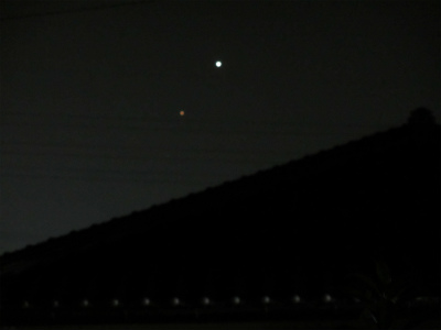 23日の金星・火星・木星