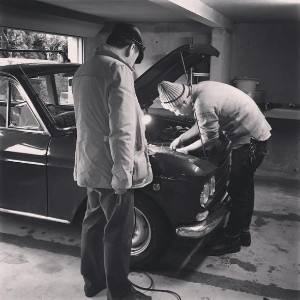 ガレージ作業