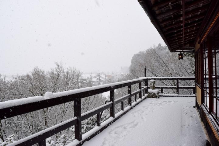 翠風閣の雪