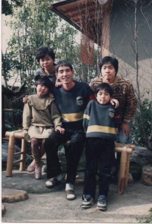 春蝶の家族と共に
