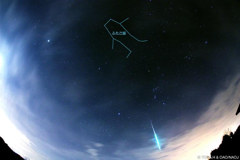 国立天文台 双子座流星群2015年
