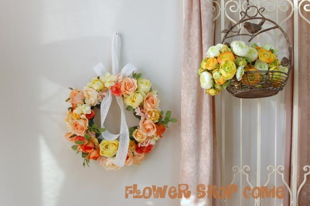 リースブーケ 個性的 ウェディング かわいい プレ花嫁