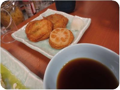 野菜さつま揚げ3種盛り(ごぼう天・枝豆天・れんこん天)