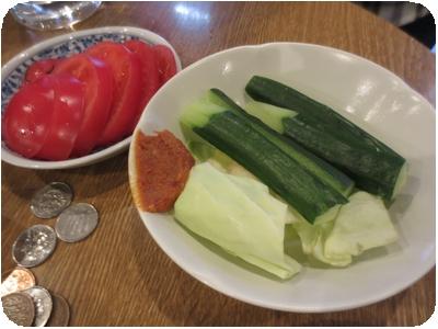冷やしトマト・味噌きゅうり