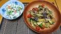 なすの味噌炒め 小松菜とにんじんの白和え 20180412