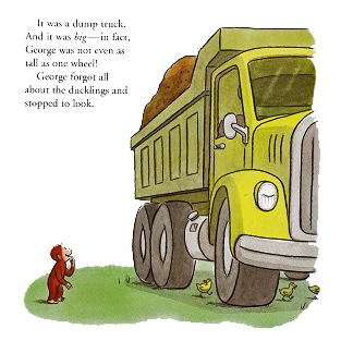 """Curious George and the Dump Truck""その1"