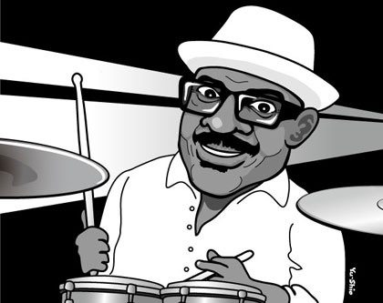 Harvey Mason caricature