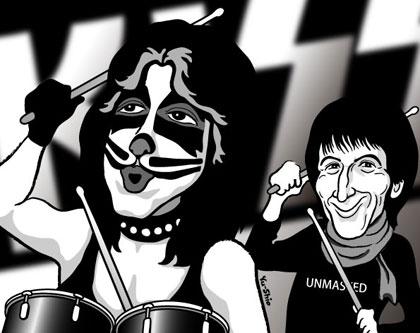 Peter Criss Kiss caricature