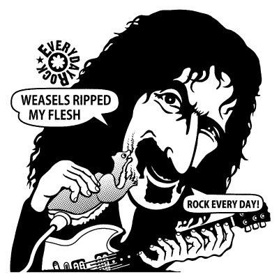 Frank Zappa T Shirt caricature