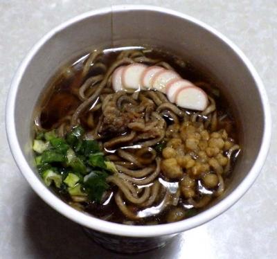 厚切太麺 濃いつゆ肉そば(できあがり)