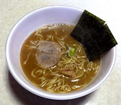 2/29全国発売 麺ニッポン 青森濃厚煮干ラーメン(できあがり)