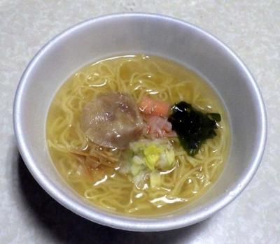 2/29全国発売 麺ニッポン 函館塩ラーメン(できあがり)