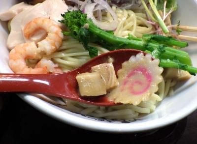 麺のようじ オマール海老のドロつけ麺(つけ汁の中の具材)