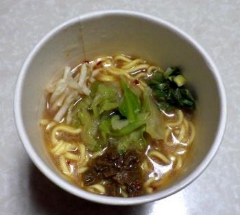 らんま1/2 濃厚味噌ラーメン 高橋留美子ふるさとの味わい(できあがり)