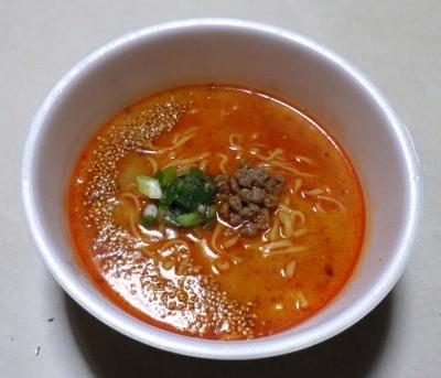 マルちゃん 正麺 カップ うま辛担担麺(できあがり)