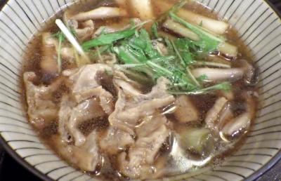 綿麺 フライデーナイト Part101 (16/1/8) 焼きネギとしめじのかすつけ麺(つけ汁)