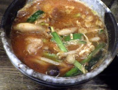 綿麺 フライデーナイト Part102 (16/1/22) 特製辛味噌☆豚骨つけ麺 あつもりバージョン(つけ汁のアップ)