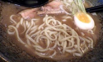 綿麺 和風とんこつ(2015年12月)(麺のアップ)