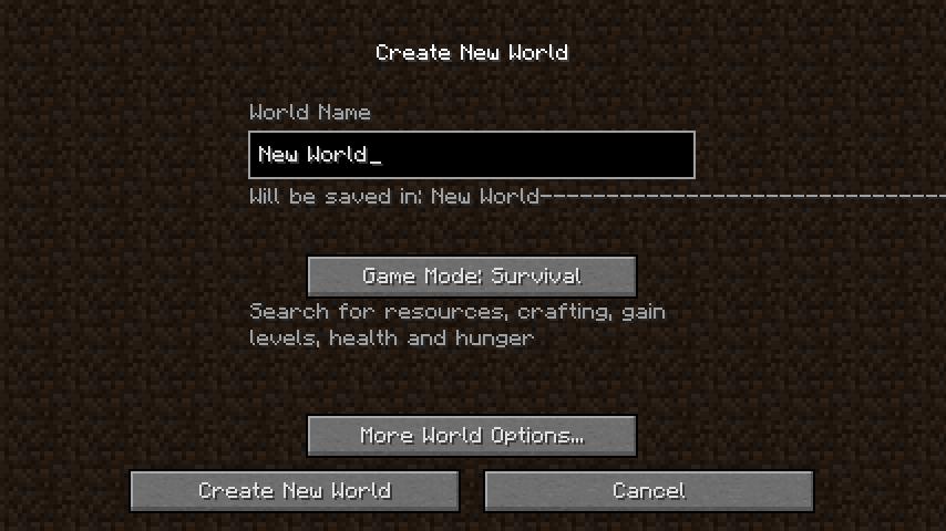 新規ワールドが作成できなかった話-1