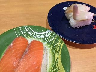 回転寿司 トポス サーモン 活ホッキ貝