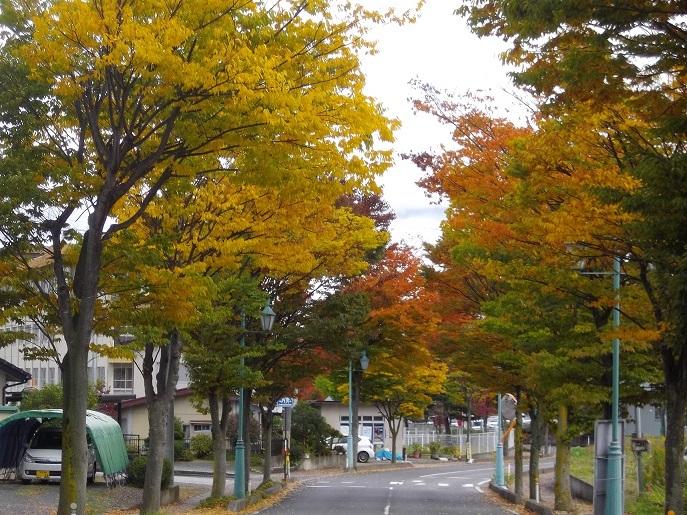 飯坂小学校付近