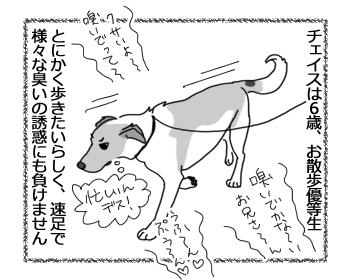 羊の国のラブラドール絵日記シニア!!「お散歩それぞれの速度」1