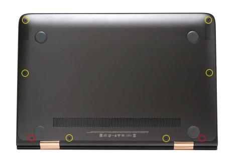 HP Spectre 13-4100 x360_カバーの取り外し_ネジ