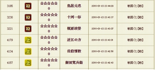 戦くじ履歴2