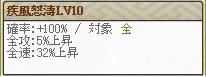 疾風怒濤Lv10
