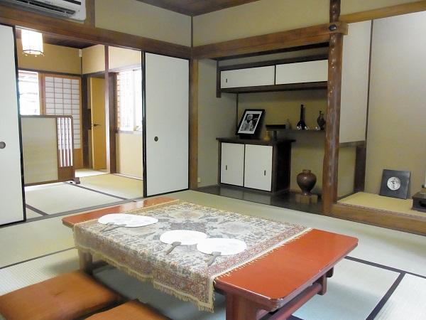 入江泰吉旧宅~室内の様子