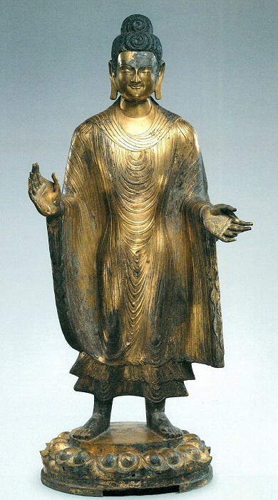 メトロポリタン美術館・北魏5 世紀五台山将来弥勒仏像