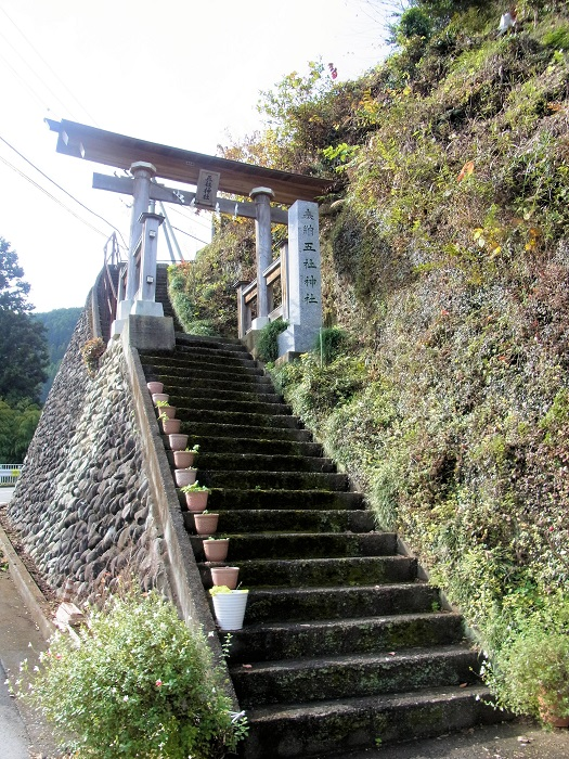 五社神社の参道入り口