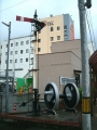 JR浜田駅 鉄道関連のモニュメント