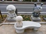 JR高知駅 アンパンマン関連の石碑1