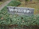JR宇島駅 電車が見える公園通り