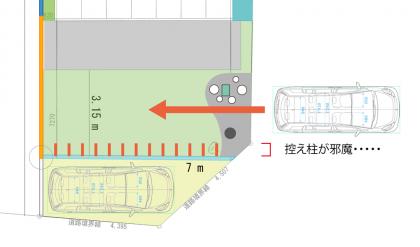 外構計画_20120704-7と控え柱