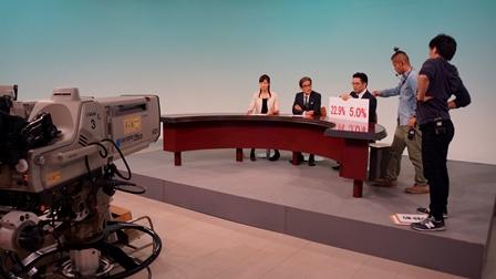 テレビ埼玉収録中