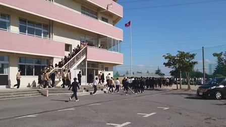 春日部共栄避難訓練01