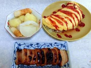 151023_3552おでん・キャベツと挽肉のオムレツ・焼き豚VGA