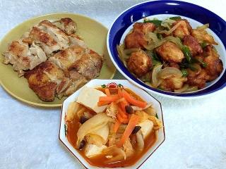 151120_3612鶏ももガーリックソテー・シュウマイの酢豚風あんかけ炒め・麻辣火鍋VGA