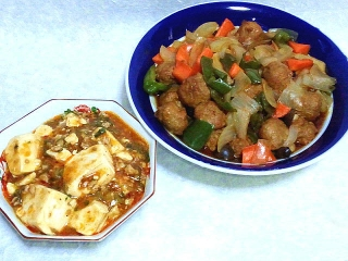 160126_3737麻婆豆腐・酢豚(鶏団子)VGA