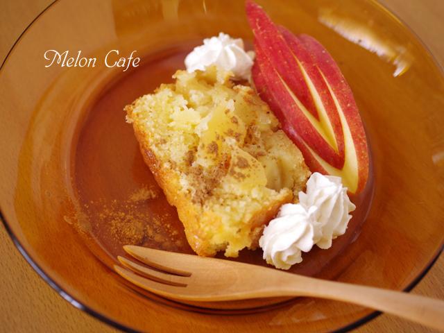 ホットケーキミックスで作るりんごのふわサクしっとりホットなケーキ