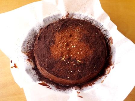 バレンタインの星空ケーキぎっしりチョコチップ09