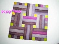 籠模様 窓模様 シルクチョガッポ 地味色 グレー&紫