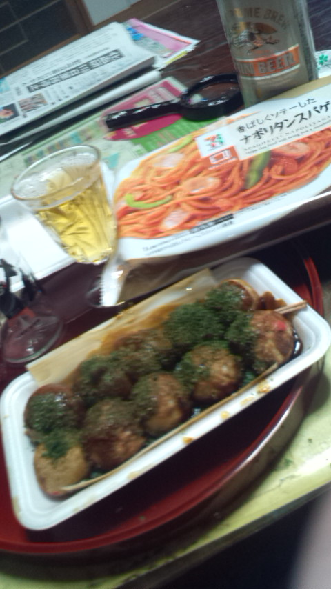 たこやき大阪&セブンイレブンの冷凍ナポリタン